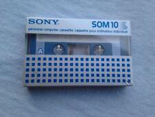 SONY SOM 10 Vintage '80s NEW SEALED Blank Compact Tape cassetta nuova sigillata