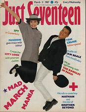 Just Seventeen Magazine 11 March 1987   Tom Crusie   The Bangles  Brother Beyond