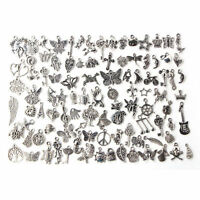 Wholesale 100x Bulk Lots Tibetan Silver Mix Charm Pendants Jewelry DIY Cr LC