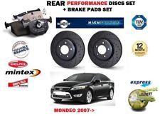 Para Ford Mondeo 2.3 2.5 2.0 2007- > Trasero Performance Juego de Discos Freno +