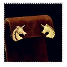 Unicorn Head Horse Pony Animal Stud Earrings Gift Kawaii Cute