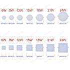 6W 9W 12W 15W 18W 21W 24W Dimmable LED Recessed Ceiling Panel Down Light Bulbs