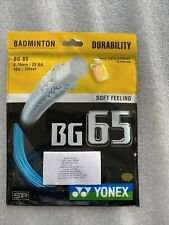 One (1) pack Genuine Yonex BG 65 Badminton String blue, US seller