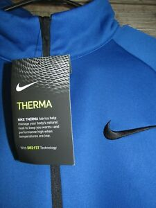 NWT Nike Dri-Fit Royal Blue Therma Training Pull Over Jacket Size XXLT TALL