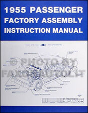 1955 Chevrolet Car Factory Assembly Manual 55 Chevy 150 210 Del Ray Instruction