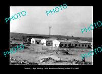 OLD POSTCARD SIZE PHOTO TOBRUK LIBYA WWII AUSTRALIAN MILITARY BARRACKS c1942