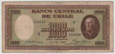 CHILE BANKNOTE 1000 PESOS 1.4.1936 SERIE B SUBERCASEAUX - MEYERHOLZ PICK 99