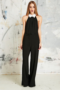 Brand New Women's Reformed Black Kat Jumpsuit with Shirt Collar Size S Free Gift