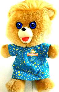 "Vintage Teddy Ruxpin 10"" Bear Singing Blue Eyes Musical Plush Stuffed Animal"