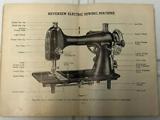 Vintage Reversew Electric Sewing Machine Manual