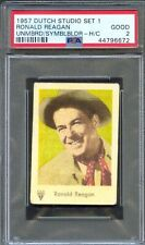 1957 Dutch Gum Card Studio Set 1 RONALD REAGAN Actor U.S. President PSA 2 Rare!!