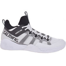 Salming Mens Kobra Mid 2 Lace Up Indoor Court Tennis Squash Trainers Shoes White