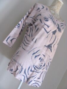 """COTTON CASUAL VERSATILE LONG LINE ,TUNIC TOP""""  PETALS MADE IN ITALY """" SIZE 16-18"""