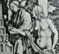 Faksimile Reichsdruck c 1910 nach Albrecht Dürer  DER TRAUM DES ARZTES /1498-99