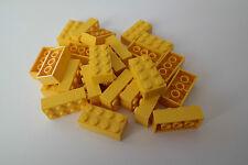 25 Lego Bausteine 2x4 gelb NEU Grundsteine Basic Steine 3001