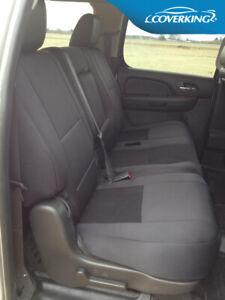 Coverking Neosupreme Custom Rear Seat Covers for GMC Sierra - Made to Order