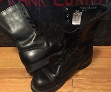 Vintage CORCORAN Military Field Combat Cap Toe Leather Jump Boots. Size 9.5 D