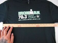 Ironman Triathlon 70.3 Gulf Coast Mens Athletic Event T Shirt Medium Black