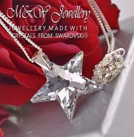 925 Sterling Silver Necklace Pendant Crystals from Swarovski® STAR - CRYSTAL CAL