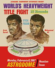 Mohammed Ali vs Ernie Terrell 1967 Fight - Poster of Fight Program 8x10 Photo