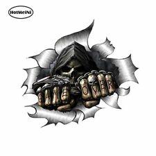 Game Over Sticker Metal Rip Skull Reaper Car Styling Drift Decal Motorbike Grim