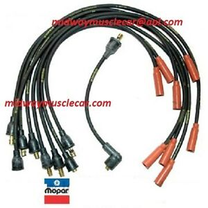 340 six-pac Dodge Challenger Plymouth Barracuda 1-Q-70 dated spark plug wires