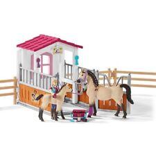 Schleich 42369 Pferdebox mit Arabern und Pferdepflegerin