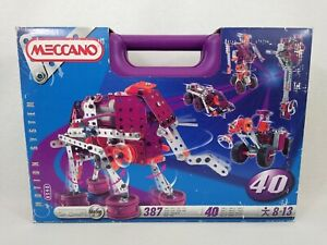 Meccano Motion System 8540 6V Motor 40 Models In Purple Case Free Postage