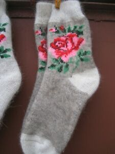 Women's WINTER SOCKS homemade  goat down cashmere yarn Russian very warm craft