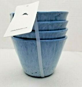 Tommy Bahama Blue Melamine Fruit Ice Cream Snack Bowl Set of 4