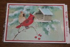 24 Vintage Red Farm Studio Christmas Postcards New Birds Cardinal Winter Snow