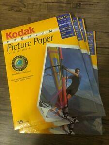 """Photo Paper kodak Premium High Gloss 15 Pack 4x14  8-1/2"""" x 11"""""""