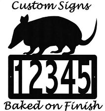 Armadillo Address Metal Sign Custom