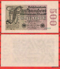 500 Millionen Mark Rarr XF/VF 5 stellig Ros.109 c Pick 110 Germany Inflation