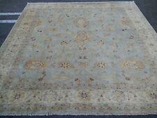 "9'7""x9'9"" Square Pakistani Peshawar Chobi Rug 100%wool Handmade carpet 10x10"