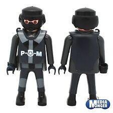 playmobil® Polizei | SEK : Figur mit Maske | Brustpanzer | Pistolenhalfter V2