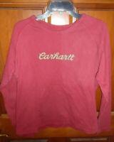 CARHARTT LONG SLEEVE RED WOMEN'S T-SHIRT SIZE XXL