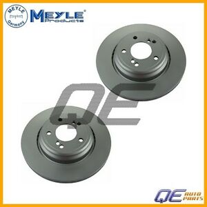 For: BMW E39 M5 E46 M3 3.2L Set of 2 Rear Disc Brake Rotors Meyle 81921007