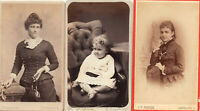 Vintage (Lot 3) Photo Cabinet Cards 2 Women & Infant Baby Cleveland Ohio