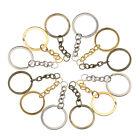 Wholesale 20pcs/lot Metal Gold Plated Split Key Chains 60mm Long Key Rings Round