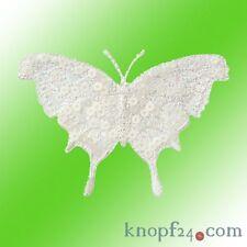 Applikation zum Aufbügeln Schmetterling weiß  (#72437)