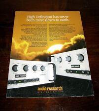 AUDIO RESEARCH SP 14/ SP 9 Preamplifier - Brochure