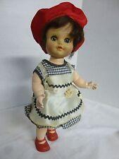 """1950's Fairyland 11"""" Sleepy Eyed Ball-Joint Eegee Walking Doll: Original Clothes"""