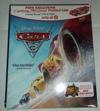 Disney Pixar Cars 3 (BLU-RAY/DVD/DIGITAL HD) + Lightning McQueen Puzzle Car NEW