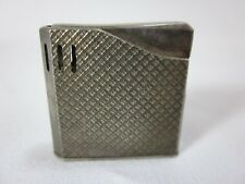 Vintage Maruman Halley Lighter Silver Plate Piezo Electric Butane