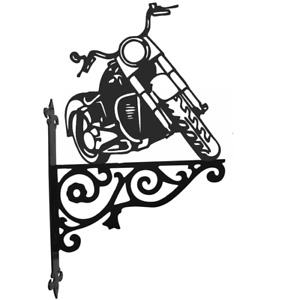 Harley Davidson Motor Bike Metal Ornamental Hanging Bracket