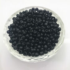 New 200 pcs 4mm Black Glass Pearl Spacer Loose Beads Jewelry Making Wholesale