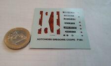 decals decalcomanie deco pour hotchkiss gregoire coupe  1/43