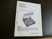 Original Service Manual Schaltplan Harman Kardon Rabco St-8