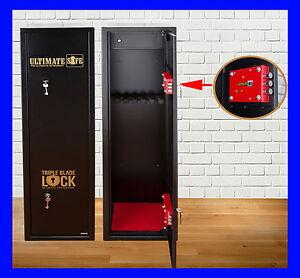 Ultimate Safe® 6 Shotgun Rifle Extra Wide & Deep Gun Safe Cabinet With Ammo Box